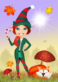Elf in the forest Stock Images