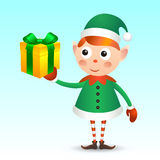 Elf with giftbox Stock Photography