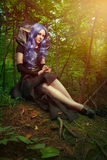 Elf girl stock photo