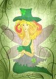 Elf girl in the green grass Royalty Free Stock Photos