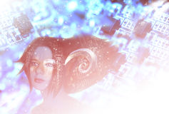 elf girl no tech ελεύθερη απεικόνιση δικαιώματος