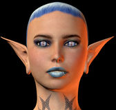 Elf girl with pointy ears Royalty Free Stock Photography