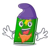 Elf green passport in a character bag. Vector illustration stock illustration