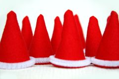 Elf hat. Read hat of elfs in christmas time Stock Images