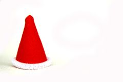 Elf hat. Read small lovely elf christmas hat Royalty Free Stock Photo