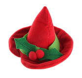 Elf hat. Elf holiday hat for human or animal isolated on white background Royalty Free Stock Image