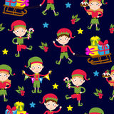 Elf helpers vector illustration Royalty Free Stock Image