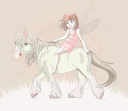 Elf on horse Stock Images