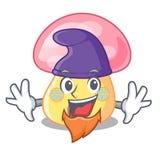 Elf house mushroom in isolated on mascot royalty free illustration