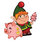 Elf. I present to you a Christmas icon - Elf Royalty Free Stock Images