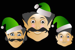 Elf icon merry Christmas new year help on a black background 2017. Helpers elves merry Christmas new year magic help Royalty Free Stock Image