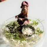Elf between jasmines-Andalusia. Elf between jasmines -garden Royalty Free Stock Photo