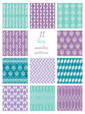 Elf Lacy Seamless Patterns Stock Foto