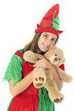 Elf Loving on the Toy Stock Image