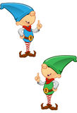 Elf Mascot - Having An Idea Royalty Free Stock Photo