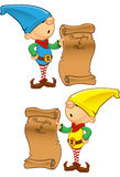 Elf Mascot - Naughty And Nice List Stock Image