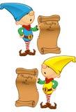 Elf Mascot - Naughty And Nice List Stock Image
