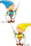 Elf Mascot - Needle And Thread Royalty Free Stock Photo