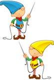 Elf Mascot - Needle And Thread Royalty Free Stock Photo