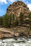 Elf Meilen-Schlucht Colorado lizenzfreie stockfotografie