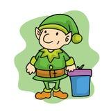 Elf in Merry Christmas holiday cartoon vector illustration