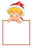 Elf with message Stock Photos