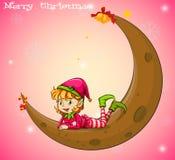 An elf and a moon Stock Photos
