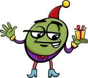 Elf o gnomo con il fumetto del regalo Immagini Stock