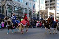 Elf op Paarden Stock Foto