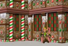 elf piernikowy dom zdjęcia royalty free