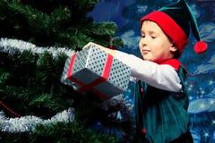 Elf present Stock Photos