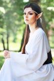 Elf princess. An elf princess lights up the way to the woodland area Stock Image