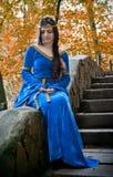 Elf Princess On Stone Staircase Stock Photo