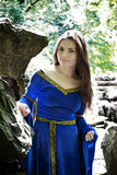 Elf princess in stone garden Stock Photo