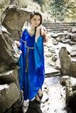 Elf princess in stone garden Stock Photos