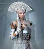 Elf queen with elixir potion Royalty Free Stock Image