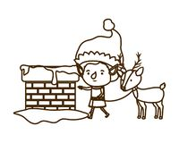 Elf with reindeer avatar character. Vector illustration design royalty free illustration