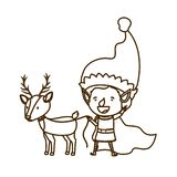 Elf with reindeer avatar character. Vector illustration design vector illustration