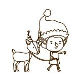 Elf with reindeer avatar character. Vector illustration design stock illustration
