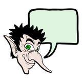 Elf rozmowa ilustracja wektor