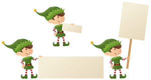Elf's Christmas Message Royalty Free Stock Photography