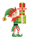 Elf Santa Claus Santa s elves preparing for christmas. Merry christmas Candy gifts new year Stock Image