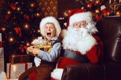Elf and santa Royalty Free Stock Photos