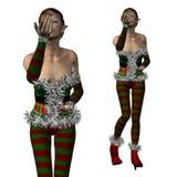 Elf Santa helper Royalty Free Stock Photography