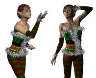 Elf Santa helper Royalty Free Stock Photos