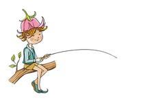 Elf se reposant sur une branche Images stock