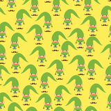 Elf seamless pattern. Christmas background. Ornament of Santa He Royalty Free Stock Photography