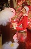 Elf on Shelf plays a tune Stock Photo