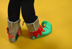 Elf Shoes Royalty Free Stock Photography