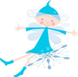 Elf on the snowflake Stock Images